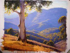 Australian artist Graham Gercken...brilliant Oil Pastel Paintings, Tree Paintings, Landscape Art, Landscape Paintings, Art Folder, Epic Art, Country Scenes, Inspirational Artwork, Australian Artists