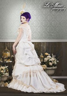 Items similar to Victorian Reproduction Steampunk Corset Wedding ...