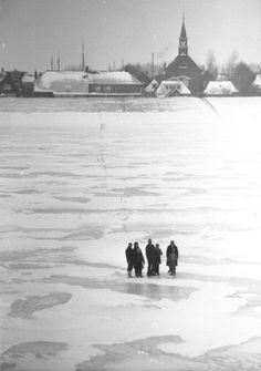 Lopen over het IJsselmeer.