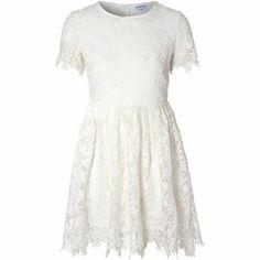 True Decadence Crochet Lace Skater Dress Ivory Size UK 12 rrp 65 DH089 KK  16   325c88731