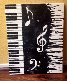 Piano Melted Crayon Art by lupita m