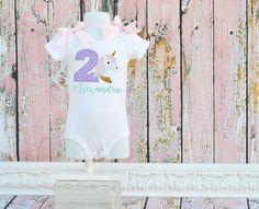 Unicorn pastel birthday shirt bodysuit 1st birthday by monogram4me