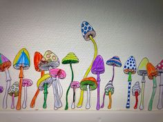 My stuff// i've made printable mushrooms and let the children color them - laminated them and cut them out - kindergarten - skidtogkanel