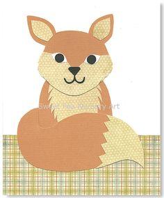 Nursery Art Print Fox print woodland nursery by SweetPeaNurseryArt, $15.00
