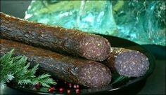 Edelsalami 1 Salami Recipes, German Sausage, Smoking Meat, Charcuterie, Recipies, Homemade, Cooking, Sausages, Food