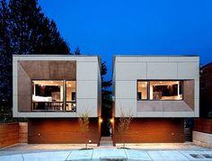Small Narrow Modern Style Duplex Plan | Home Design