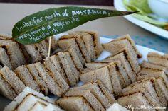 Make star shaped vegemite sandwiches