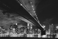 New York (Manhattan night) - plakat - 91,5x61 cm  Gdzie kupić? www.eplakaty.pl