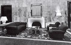 Jean-Michel Frank living room, fireplace
