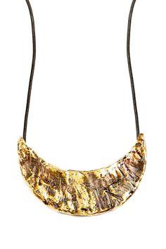Bronze Crescent Necklace