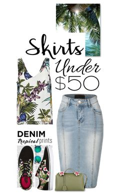 """""""Skirts Under $50"""" by shortyluv718 ❤ liked on Polyvore featuring LE3NO and Fendi"""