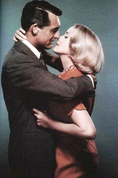 """Cary Grant and Eva-Marie Saint in """"North by Northwest"""" (1959)"""