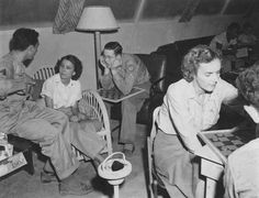Checkers at Red Cross Club in Japan, circa 1946 - The Betty H. Carter Women Veterans Historical Project - UNCG University Archives