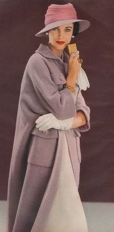 Новости/////// Do not know the translation of the previous word.....but this garment speaks of quiet authority....the softness of heathered mauve.....and the ease of the cut and color....wonderful....