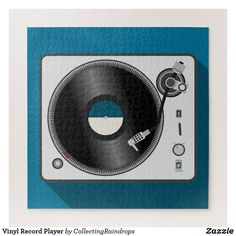 Shop Vinyl Record Player Jigsaw Puzzle created by CollectingRaindrops. Vinyl Record Player, Vinyl Records, Tech House Music, Make Your Own Puzzle, Landscape Concept, Custom Gift Boxes, Business Card Design, Business Cards, Animal Skulls