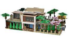The New Concept House Lego Mansion, Casa Lego, Ninja Turtles Art, Lego Modular, Modern Mansion, Cool Lego Creations, Lego Architecture, Lego Creator, Lego House