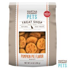 #AmericanMade #MarthaStewartPets Treat Shop | Natural Pumpkin Pie Dog Treat only @petsmartcorp