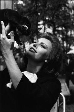 "Herbert LIST :: Sophia Loren, while filming ""The Condemned of Altona"" by Vittorio de Sica, 1961"