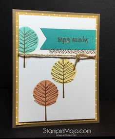 Stampin Up Totally Trees Birthday card - Michelle Gleeson Stampinup