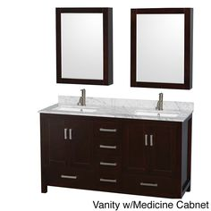 Photo Gallery On Website Wyndham Collection Sheffield Espresso Undermount Double Sink Birch Bathroom Vanity with Natural Marble Top Mirror Included Common in x in u