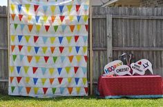 How to build a back yard photo booth for under $5! Tutorial.