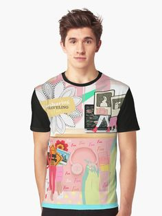 'Abstract - Car sharing is Fun' Graphic T-Shirt by PiccoGrande Pink Abstract, Drawstring Bags, Plaid Pants, Matching Outfits, Female Models, Vivid Colors, Streetwear, Cool Designs, Shirt Designs