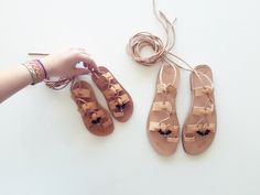 Mommy & Me Gladiators - Leather Sandals with wrap up laces and evil eye beads by KandElphy on Etsy https://www.etsy.com/listing/482276553/mommy-me-gladiators-leather-sandals-with