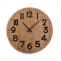 1b215324600f WOODEN WALL CLOCK 60CM  wooden  clock  versa  home RELOJ PARED MADERA 60 CM   reloj  madera  decor