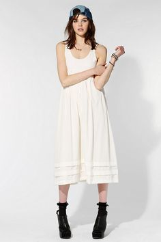 FAMILY AFFAIRS Odile Babydoll Tank Dress  #UrbanOutfitters