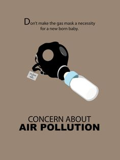 Anti-air pollution poster design