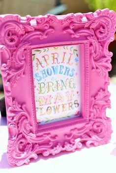 April Showers Bring May Flowers themed baby shower via Kara's Party Ideas KarasPartyIdeas.com Printables, favors, cakes, cupcakes, and more!...