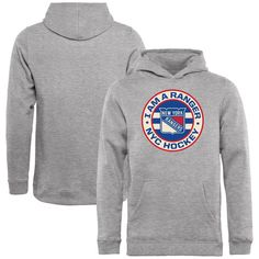 New York Rangers Youth Hometown Collection I Am A Ranger Pullover Hoodie - Ash