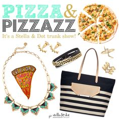 Pizza & Pizzazz Stella & Dot trunk show theme party Buy Stella and Dot here: http//:www.stelladot.com/ohsocharmed