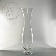 "20"" Glass Trumpet Vase - WholesaleFlowersAndSupplies.com"