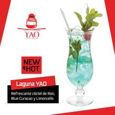 Laguna YAO: Refrescante cóctel de Ron, Blue Curacao y Limoncello. #VenParaYAO