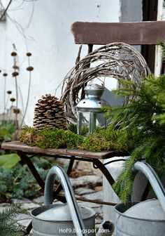 Hello my dears, today again, as always, a little late with the Advent Special. I actually wanted no last night . The Effective Pictures We Offer You About DIY Wreath grapevine A quality picture Outdoor Christmas, Winter Christmas, Christmas Time, Rustic Christmas, Deco Floral, Interior Garden, Christmas Decorations, Holiday Decor, Winter Garden