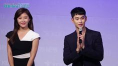 "nice [09/10/2015] Kim Soo-hyun and actress Ha Ji-won at a meeting of ""Hana Bank"""