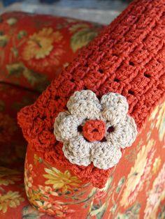 Cuello crochet hecho a mano
