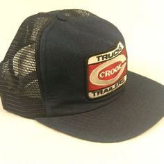 Crook Trucks Trailers Trucker Hat Baseball Cap Mesh Adjustable Snapback Denim #MadeinUSA #TruckerHat