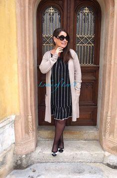 Outfit mit Kleid und Strickmantel, woman over 50 Blogs