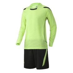 Long Sleeve Soccer Jersey Set (Green and Black)