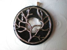 Halloween Necklace Spooky Tree  Washer by MaddDoggofTomorrow