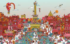 [網路行銷] 14天14張插圖,遊覽世界。尋找漢莎在哪裡?