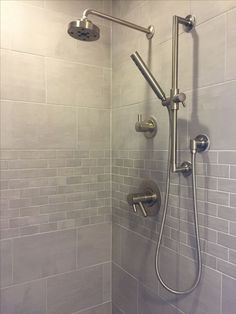 Tile Shower Ideas For Small Bathrooms Small Shower Tile Ideas Tub Shower Tile Ideas Small Shower Tile Ideas Finally Tiled Shower In Gray Small Bathroom Tub Small Half Bath Tile Ideas Tile Shower Ideas Master Shower, Shower Tub, Master Bathroom, Bathroom Repair, Tile Showers, Shower Walls, Bathroom Showers, Large Shower, Downstairs Bathroom