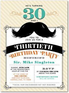 30th Birthday invitation
