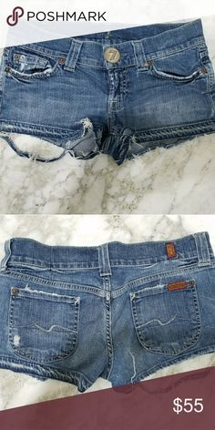 7 for all mankind jean shorts Previously used in good condition 7 For All Mankind Shorts Jean Shorts