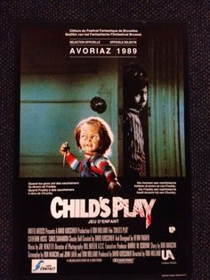 CHILD'S PLAY   CHUCKY   BELGIAN POSTER