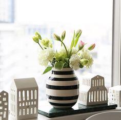 (Kahlerケーラー)オマジオフラワーベースミディアムブラック(花瓶)
