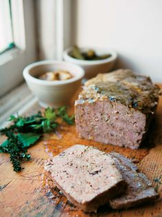 "PORK & DUCK LIVER TERRINE ~~~ this recipe is shared with us from the book, ""heart of the artichoke and other kitchen journeys"" [David Tanis] [projectfoodie] Cookbook Recipes, Meat Recipes, Real Food Recipes, Cooking Recipes, Yummy Food, Bratwurst, Food And Drink, Favorite Recipes, Food Porn"