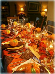Thanksgiving Table Setting Scape Centerpieces Ideas Blessings